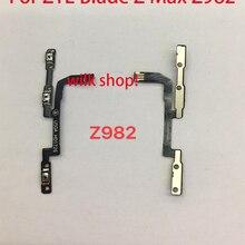 Novo para zte lâmina z max z982 power on fora interruptor de volume botão lateral chave cabo flexível peças reposição