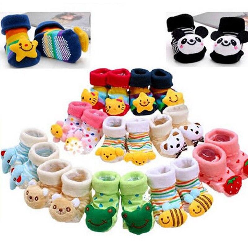 3D Cartoon Anti Slip Socks Toddler Slipper Shoes Boots Baby Prewalker Socks 0-12 Months