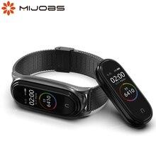 Pulsera para Mi Band 5 Correa de Metal para Xiaomi My Band Belt 5 reloj inteligente pulsera de Metal para Mi Band Opaska 3 4 5