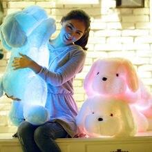 1 шт 50 см светодиодный собака плюшевая игрушка светильник на