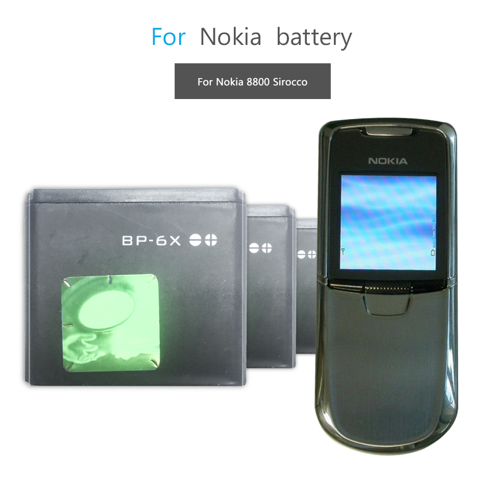 Mobile Phone Battery For Nokia 8800 8860 8800 Sirocco N73i Replacement Battery BP 6X BP-6X 700mAh