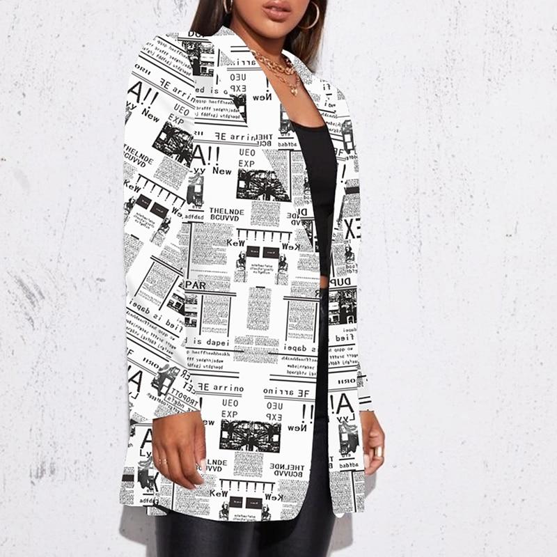 Hebe35b7059c74c1b81c3fd79d640c3c3R Fashion Trend Women Lapel Leopard Print Long Sleeves Suit Jacket Elegant Fall Winter Office Lady Cardigan Coat Casual Streetwear