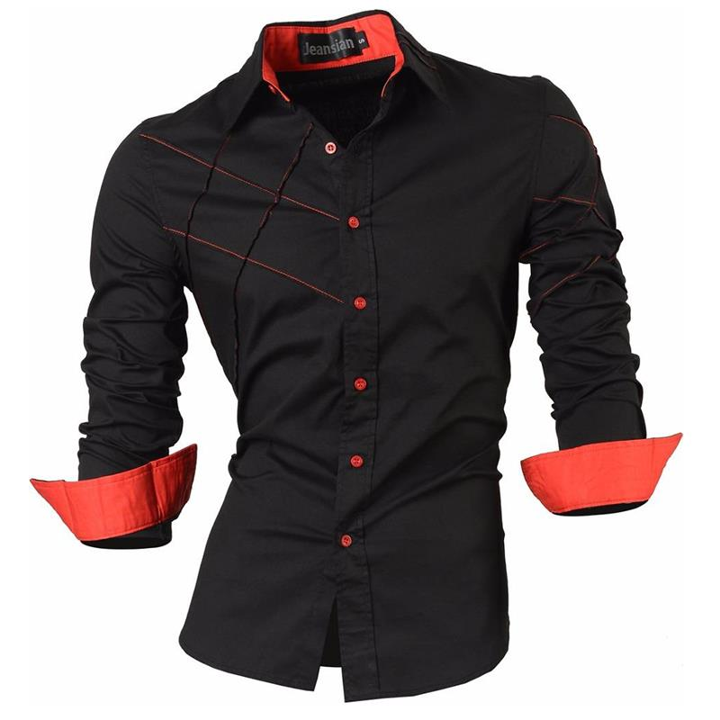 Hebe3643f5ec04192875b10eff0785a55y - Jeansian Spring Autumn Features Shirts Men Casual Jeans Shirt New Arrival Long Sleeve Casual Slim Fit Male Shirts Z030