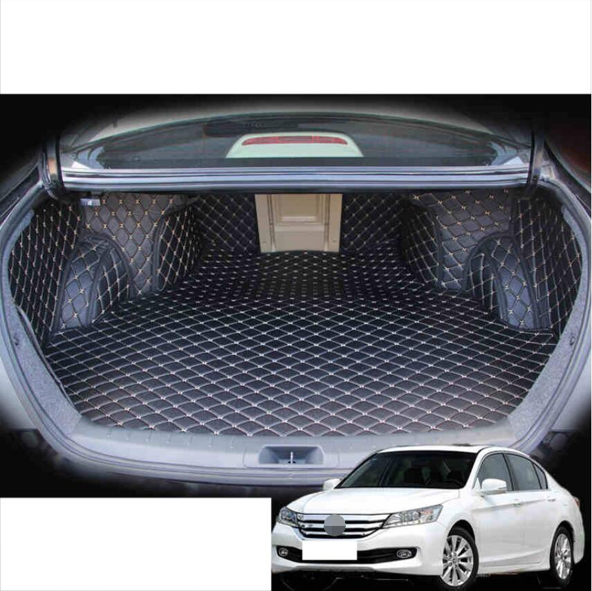 for Leather Fully Coverage Car Trunk Mat Cargo Liner for <font><b>Honda</b></font> <font><b>Accord</b></font> 2008 2009 2010 <font><b>2011</b></font> 2012 5d Rug Carpet <font><b>Accessories</b></font> image