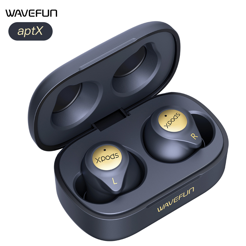 Bluetooth-наушники Wavefun XPods 3T, Hi-Fi, aptX, AAC, CVC8.0, IPX7, Беспроводная зарядка, Bluetooth 5,0
