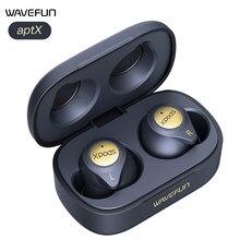 Wavefun xpods 3t bluetooth fone de ouvido alta fidelidade aptx aac fones cvc8.0 chamada clara ipx7 carregamento sem fio bluetooth 5.0 fone de ouvido