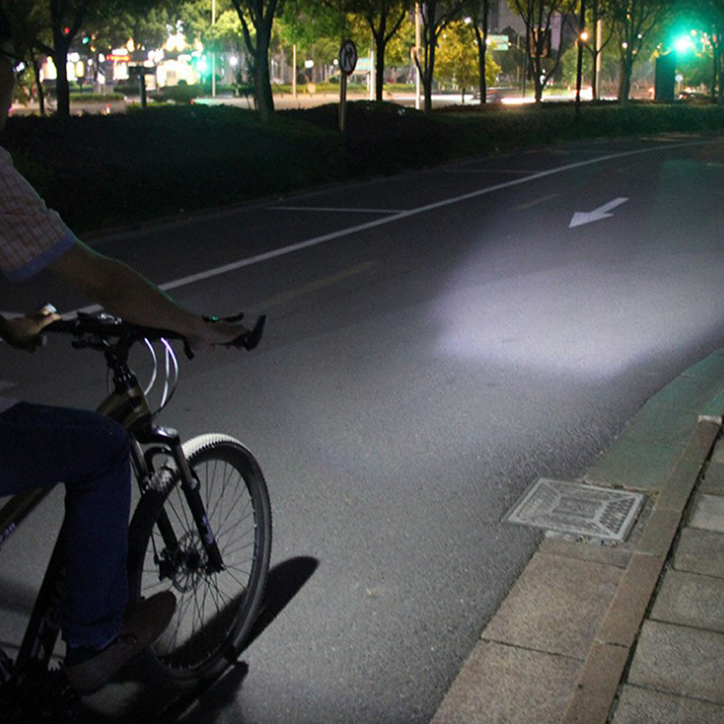 USB Led Bicycle Light w/ Horn 250 Lumens 3 Lighting Modes Bike Headlight Set