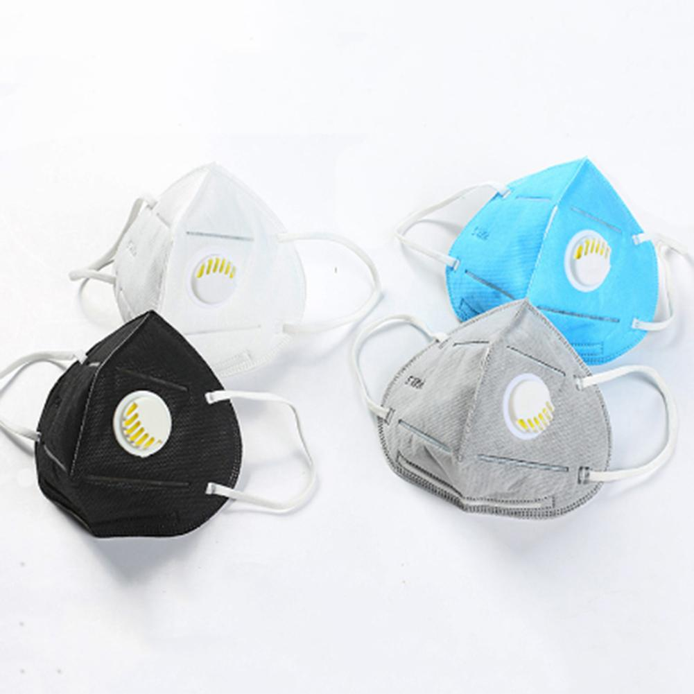 2/5PCS Anti Dust Mask PM2.5 Activated Carbon Filter Face Mouth Masks For Anti-fog Unisex Mouth Muffle Breathable