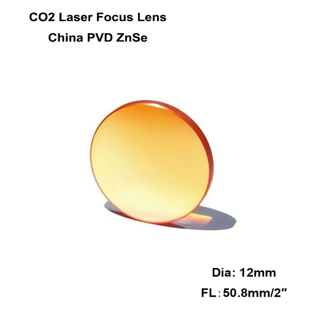 """2pcs China CO2 ZnSe Focus Lens Dia.12mm FL 50.8mm 2"""" for 40W 50W Co2 Laser Engraving Cutting Machine Engraver Cutter K40"""