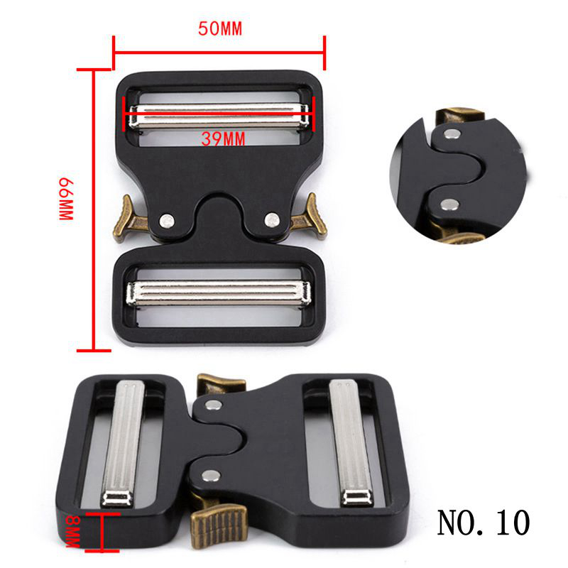 Wide 38mm Tactical Belt Buckle Quick Side Release Strap Belt Buckles For Men For Luggage Clothes Webbing Clip Black Buckle