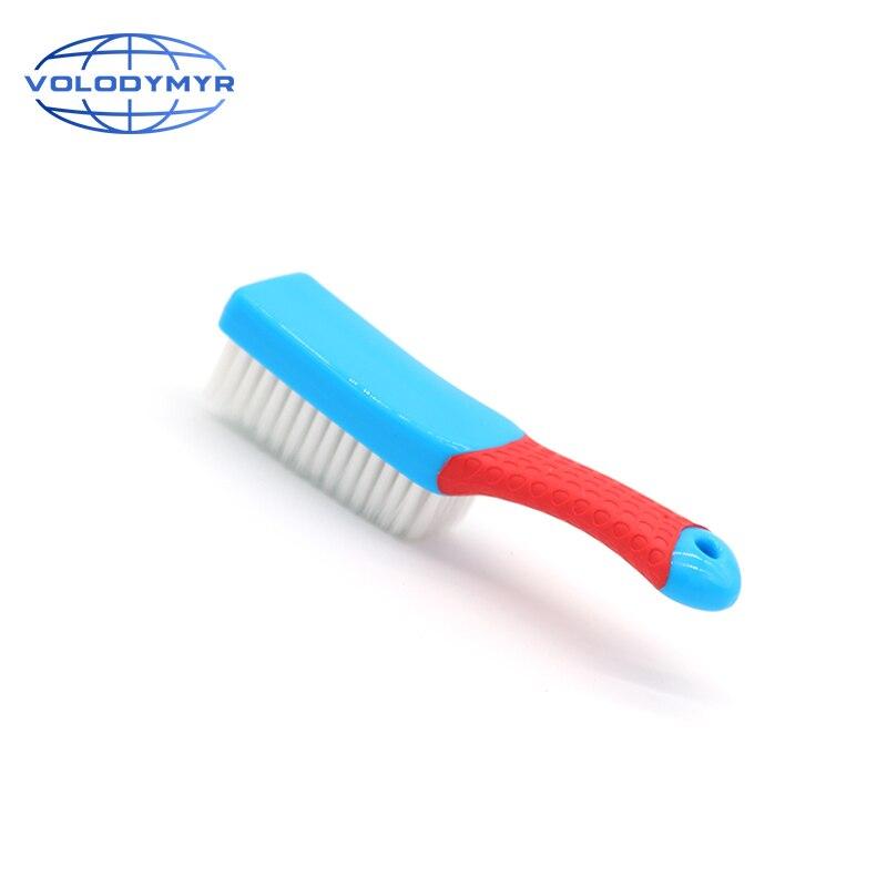 Tapete interior de borracha lidar com escova densa cabelo produtos de limpeza do carro ferramentas de lavagem para detalhamento de automóveis tapete