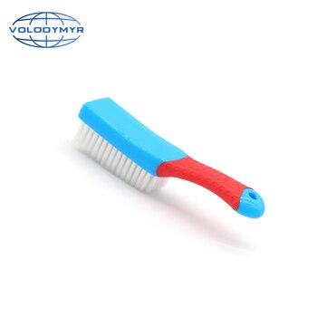 Wnętrze dywanu z gumową rączką szczotka gęste włosy samochodowe produkty czyszczące narzędzia do mycia dla Auto Detailing mata podłogowa