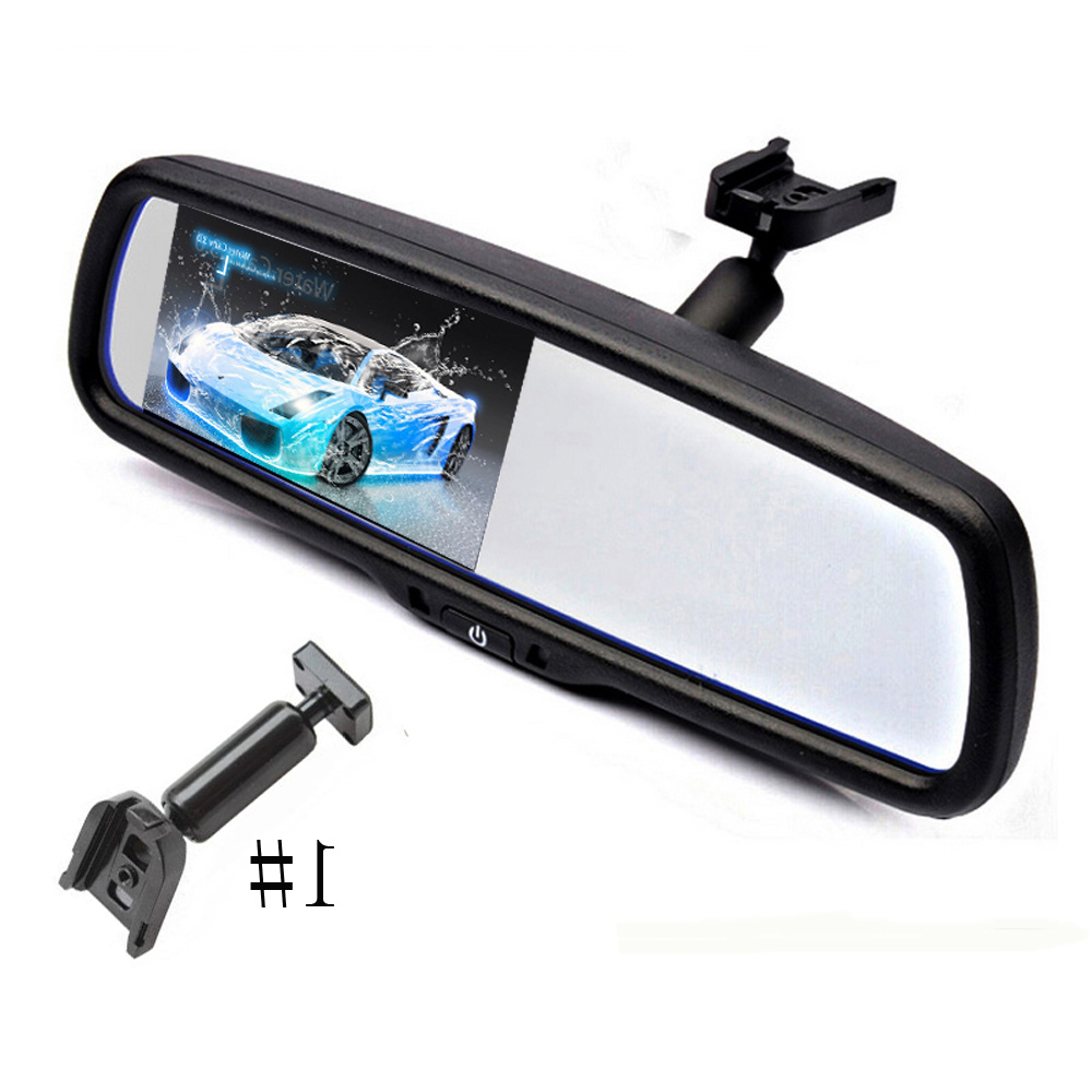 "For Volkswagen 4.3/"" TFT LCD Car Reversing Mirror Monitor with Bracket 2CH Video"