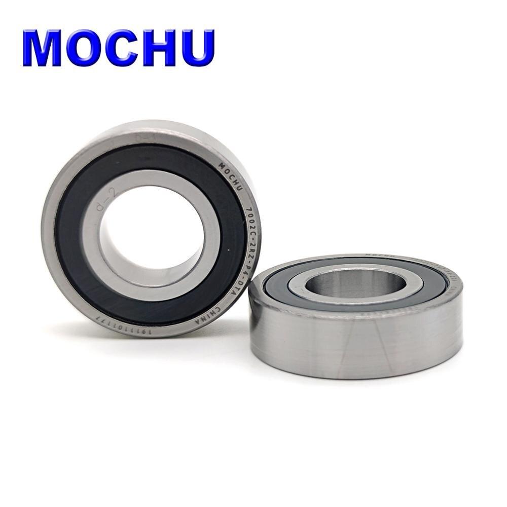 1 Pair MOCHU 7002 7002C 2RZ P4 DT A 15x32x9 15x32x18 Sealed Angular Contact Bearings Speed Spindle Bearings CNC ABEC-7