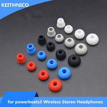 4 Pairs Replacement Earbud Eartips Eargels for Beats Powerbeats 3 Wireless Stereo Headphones Small Medium Large Double Flange