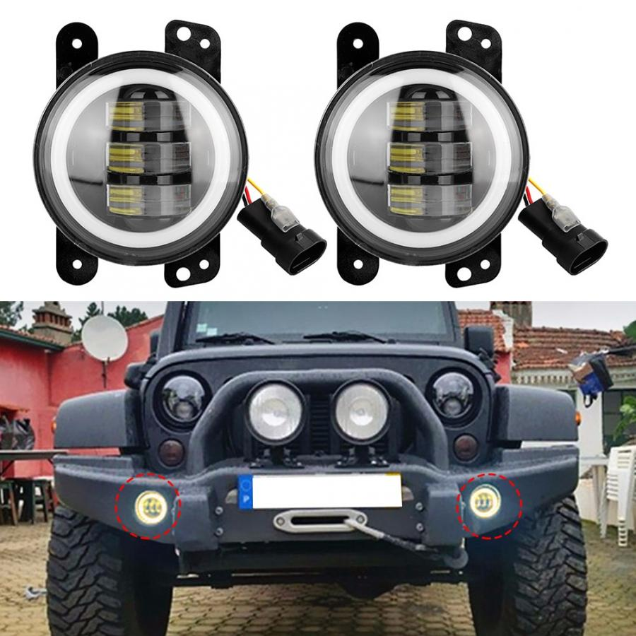 Gold-Light Bulbs Waterproof 6000K Round LED Car Front 30W for Jeep 4x4/suv 4in 12-23V