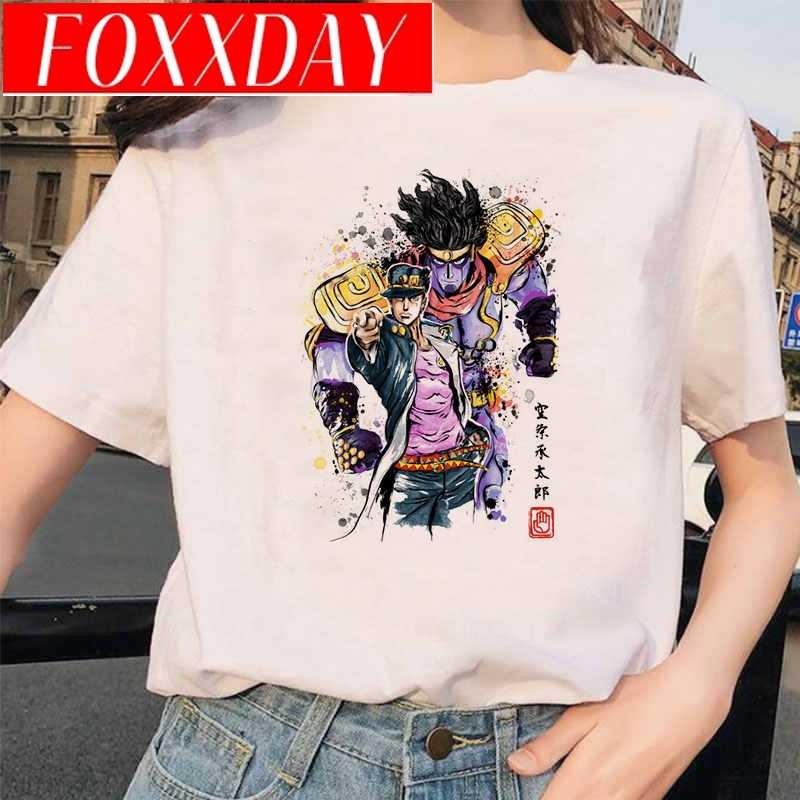 일본 애니메이션 조조 기묘한 모험 재미 있은 T-셔츠 남자 여자 인쇄 된 Tshirt 캐주얼 조조 T 셔츠 힙합 상위 티 여성