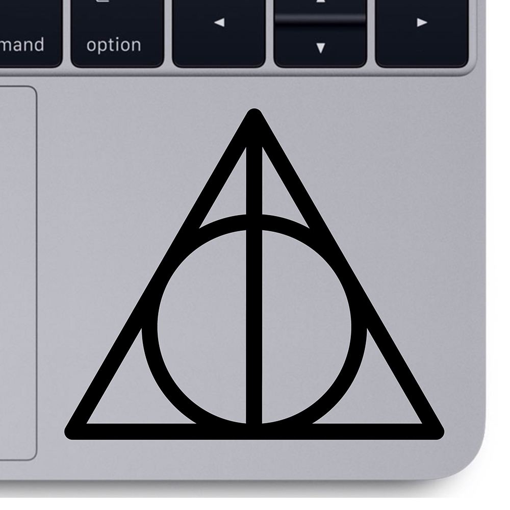 Deathly Hallows decal Magic tools computer laptop Sticker macbook vinyl Removable for car Computer Decoration Accessories X152