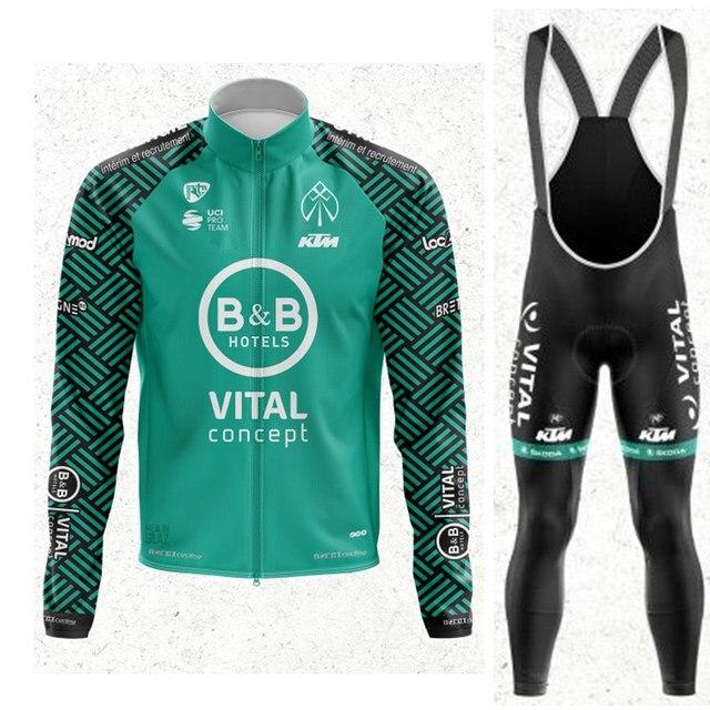 Maillot Cuissard B/&B Hotels Vital Concept 2020 Ensemble équipe cyclisme Pro été