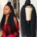 HD Синтетические волосы на кружеве al парик 13x4 / 13x6 Синтетические волосы на кружеве вьющиеся парики из натуральных волос на кружевной Queenlife 30 32...