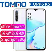 Оригинальный мобильный телефон Oppo K5 4G LTE, Snapdragon 730G, на базе Android 9,0, 6,4 дюйма, Super Amoled, 8 ГБ ОЗУ 256 Гб ПЗУ, 64.0MP, 30 Вт, зарядка Vooc