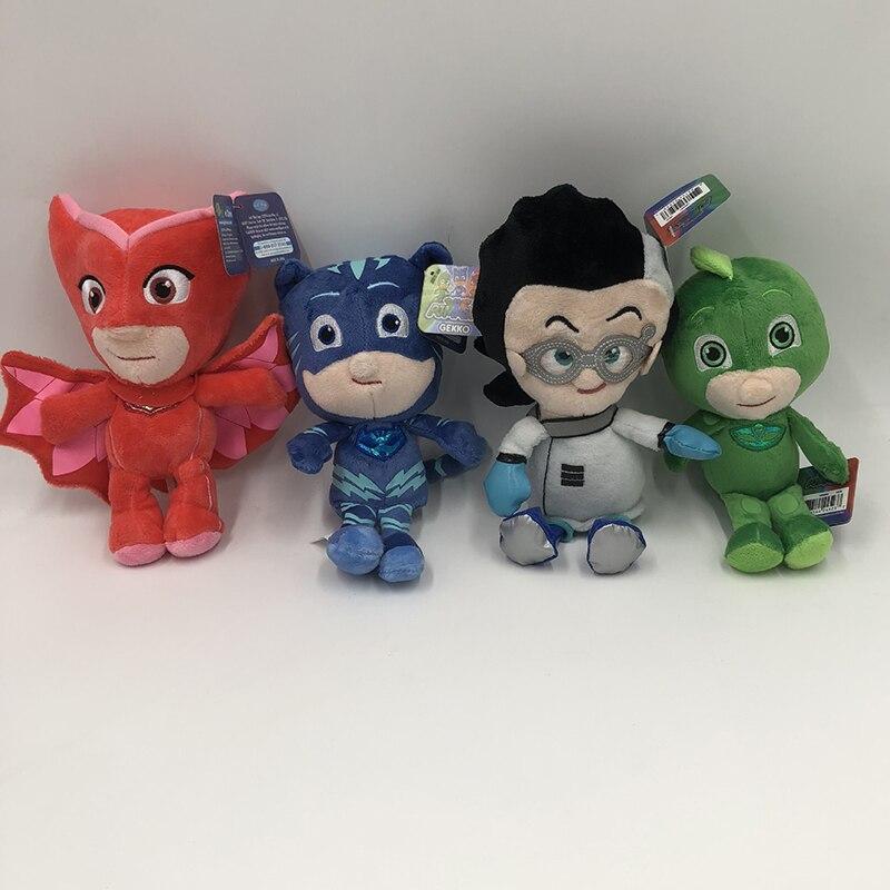 20cm Cartoon Figures Pj Catboy Owlette Gekko Cape Masks Children Pj Plush Masks Juguete Kids Toys For Children Best Gift S49
