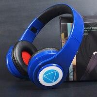 Auriculares estéreo plegables con micrófono, audífonos inalámbricos compatibles con Bluetooth, recargables y portátiles