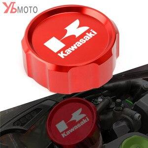 Image 1 - Tapa de cubierta de depósito de líquido de frenos delantero CNC para motocicleta Kawasaki Z1000SX Ninja 1000 ZX10R ZX9R ZX6R ZX250R Z750S Z750 GTR1400