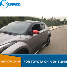 Car window rain protector guard  for TOYOTA CH-R 2018-2019 wind deflectors 2018 2019 accessories SUNZ