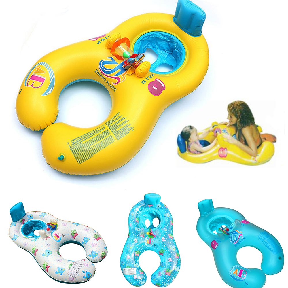 Mother Kids Inflatable Circle Baby Accessories Swimming Circle Safe Swimtrainer Pool Inflatable Buoy Portable Baby Float Wheel