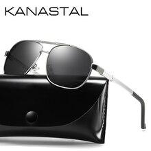 KANASTAL Sunglasses Men Aluminium Magnesium Polarized Glasses Pilot For Driving Male Sun