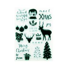 Christmas tree and deer Clear Stamp Transparent Silicone Seal for DIY Scrapbooking Card Making Photo Album Decor Crafts Supplies