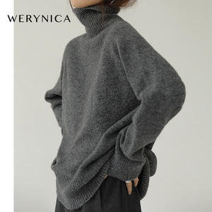 Oversized Women Sweater Pullover Knitted Cozy Cashmere Korean-Style Autumn Winter Warm