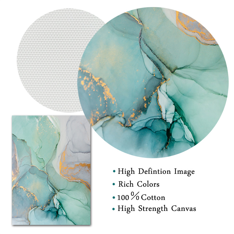 Hebe5bcc7ac814698afe32e83ad8dac9fU Abstract Green Stone Pattern Nordic Poster Canvas Painting Quadro Wall Pictures Cuadros Decoracion Geometric Home Decor Unframed