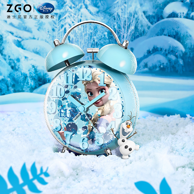 Дисней будильник игла круглый одиночный лицо принцесса Аиша мультфильм личность светящийся будильник часы немой детский% 27s будильник часы