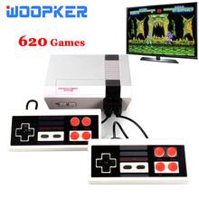 Retro Mini telewizor konsole do gier wideo wyjście AV 8-Bit 620 klasyczne gry 2 graczy z kontrolerem dla dzieci Famaily prezenty tanie tanio Woopker NONE CN (pochodzenie) Wtyczka UE 620 TV Video Games