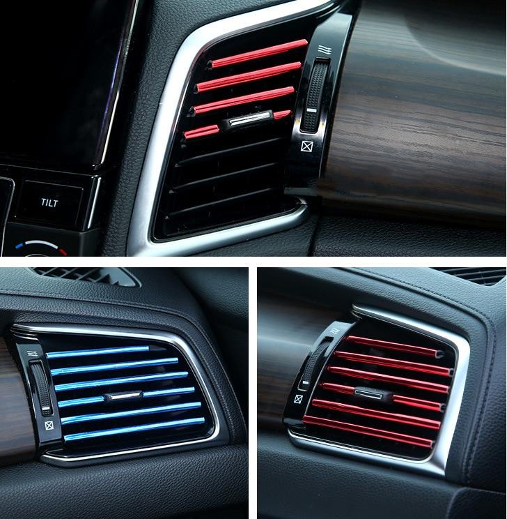 Автомобильная Декоративная полоса для воздуховыпускного отверстия, аксессуары для интерьера для Toyota TRD avensis auris hilux Corolla Camry RAV4