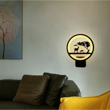 Led Wall Light Acrylic Modern Black Finished For Home Living Room Bedside Bedroom Lustres New Creative Sconce Lamp