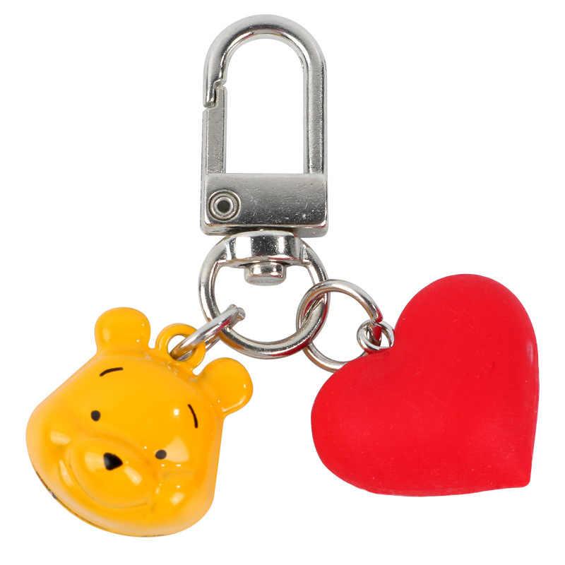 Cortoon Homem chaveiro Minnie Mickey ponto Winnie Pooh Pig chaveiros macio Caso do Fone de ouvido Para O fone de Ouvido Bluetooth Sem Fio chave Anel