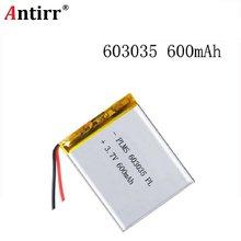ポリマー電池 600 mah 3.7 V 603035 スマートホーム用リチウムイオン電池 dvr GPS mp3 mp4