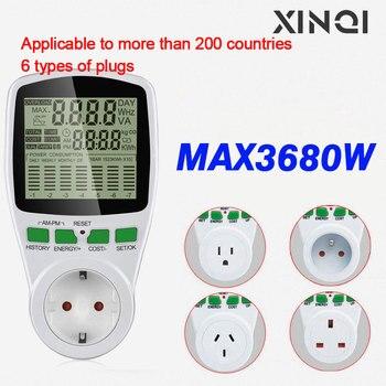 цена на Digital Energy Meter Watt Meter Electronic Power Meter Record Volt Voltage Outlet Socket Meter Energy Analyzer