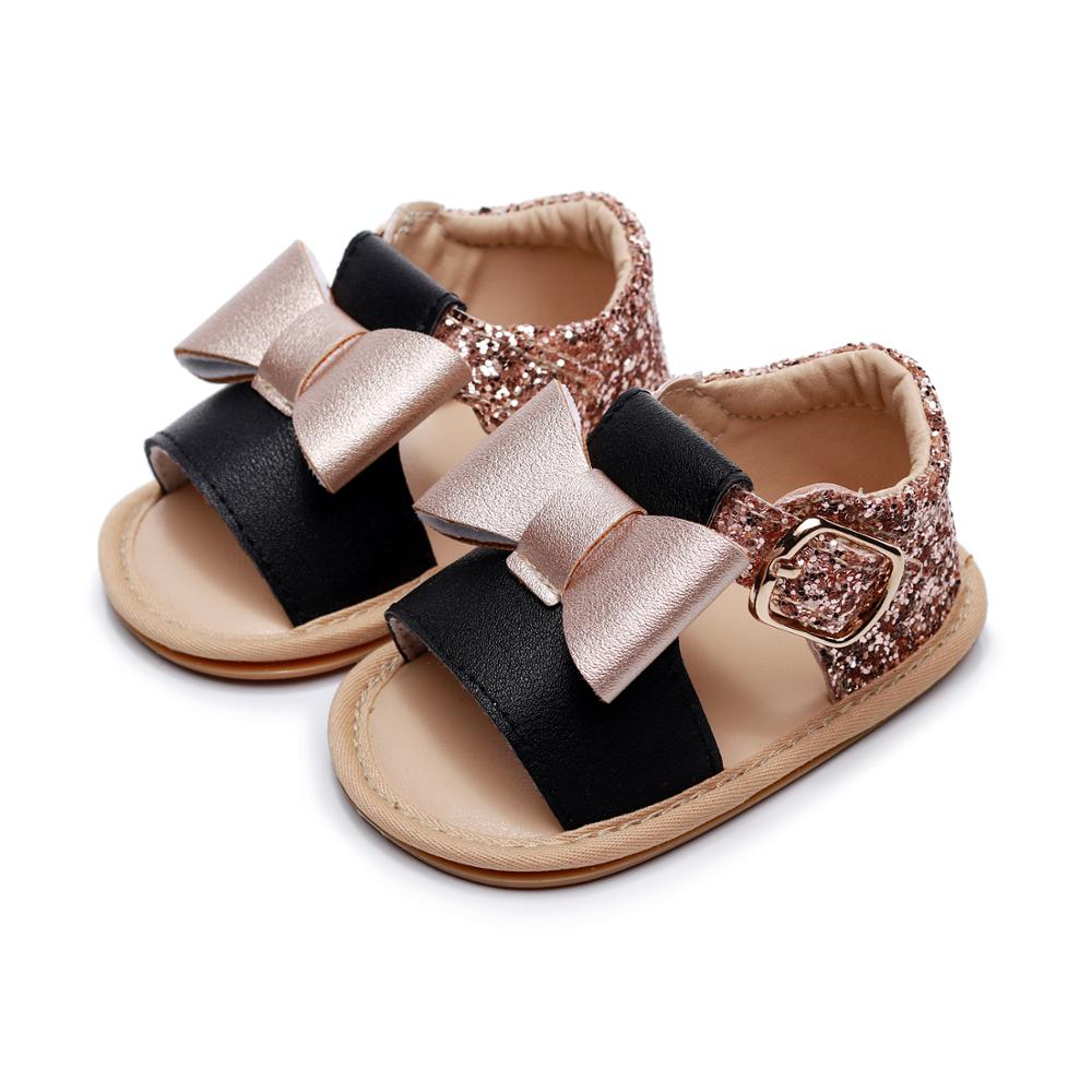 Age:18-24Month, Red Cool Sandals For Infant Baby Girls Solid Color Leather Summer Sandal Rome Strap Flat Sandals Toddler Prewalker Crib Shoes