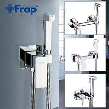 FRAP Bidet Faucets wall mounted bidet toilet faucet shower with handheld sprayer shower chrome hygienic shower bidet muslim