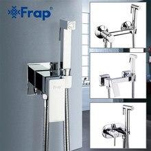 Смесители для биде FRAP, настенный кран для биде, туалета, душа с ручным распылителем, хромированный гигиенический мусульманский душ для биде