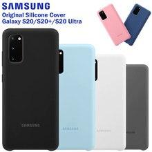 SAMSUNG étui en Silicone d'origine housse de téléphone pour Galaxy S20 S20PLUS S20 + S20Ultra S20 Ultra doux téléphone Cace housse antichoc
