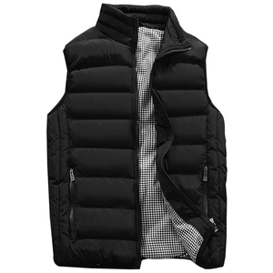Image 2 - Mens Jacket Sleeveless Vest Winter Fashion Casual Slim Coats Brand Clothing Cotton Padded Mens Vest Men Waistcoat Big Size 666