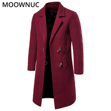 Long Woollen Overcoat Male Mens Clothes Coats Winter Autumn Fashion Business Smart Casual New 2019 Blends MOOWNUC MWC
