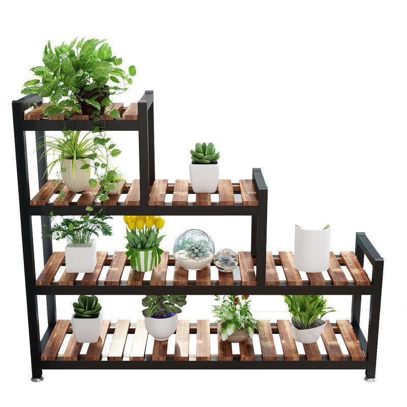 Estante Para Flores Estanteria Escalera Pot Indoor Plant Plantenrekken Wood Ladder Outdoor Balcony Dekoration Shelf Flower Stand