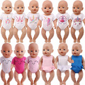 Одежда для кукол с единорогом, футболки, купальники, доступны для 18-дюймовых американских кукол и 43 см, купальники для новорожденных девочек...