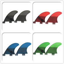 FCS GL 2 in per set blue/black/red/green Colors Honeycomb Upsurf logo Surfboard Twin fin sets
